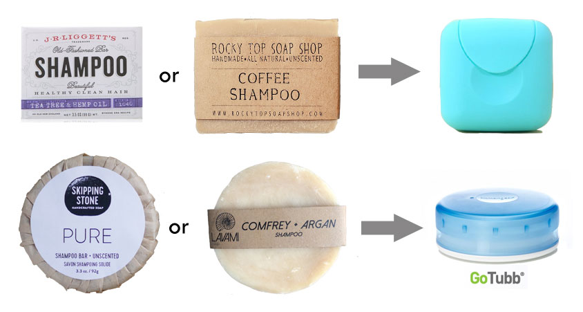 Picture of Soap, Shampoo, Shaving Cream = TOO MUCH STUFF