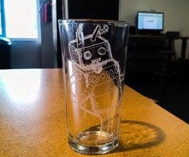 Grabado en vaso de vidrio