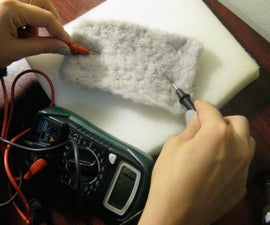Hand Card & Needle Felt Conductive Material