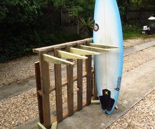 Short Board Surf Rack- Upcycled