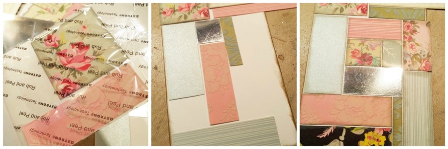 Create a Collage Pattern Onto the White Cardstock