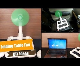 DIY Ideas/PVC Project - How to Make Table Fan at Home - Electric, High Speed Easy, Handy & Folding