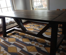 Rustic Farmhouse Style Dining Table