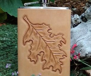 Make a No-Stitch Leather Flask Cover