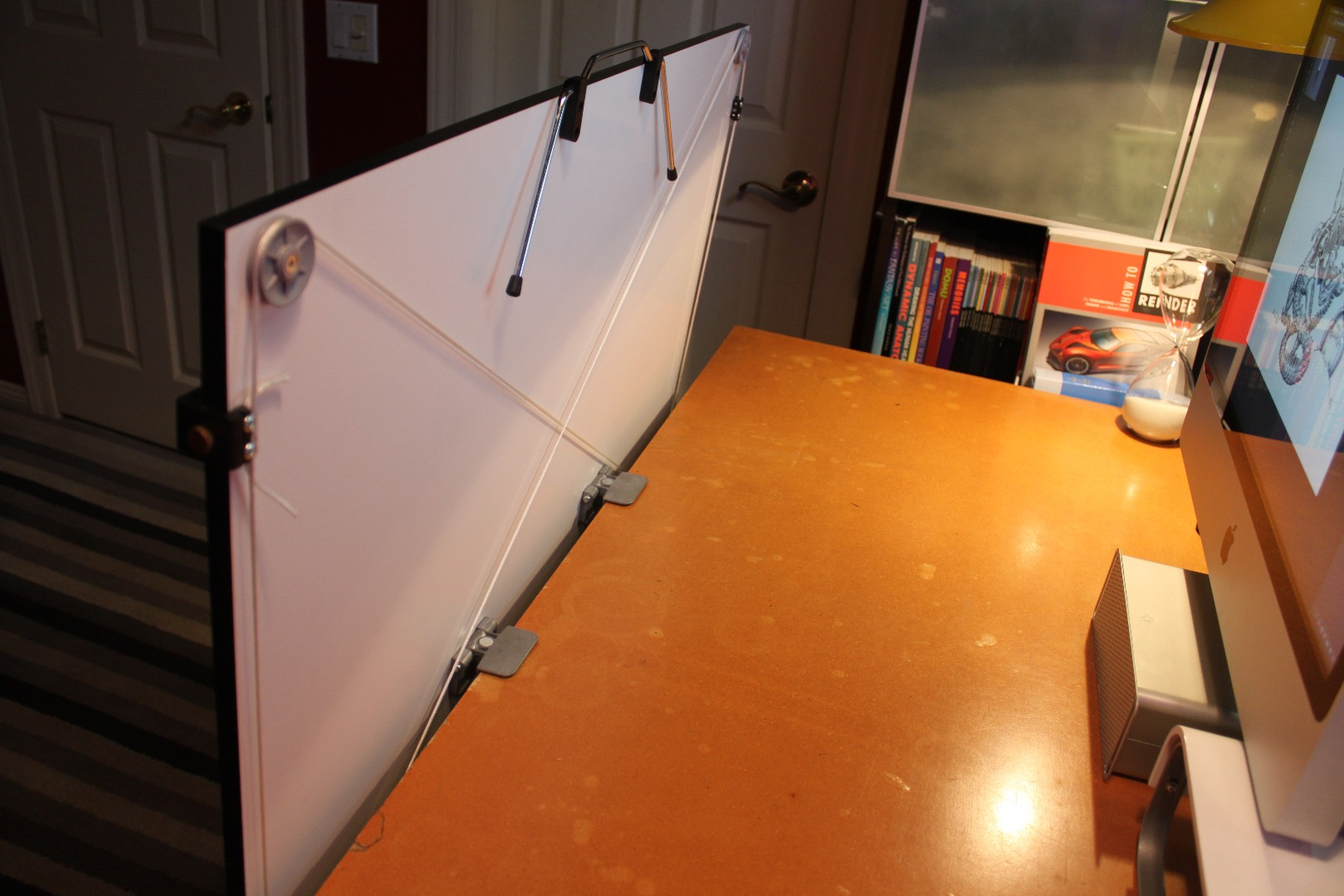 Picture of Clamping Your Drafting Surface to Your Desk