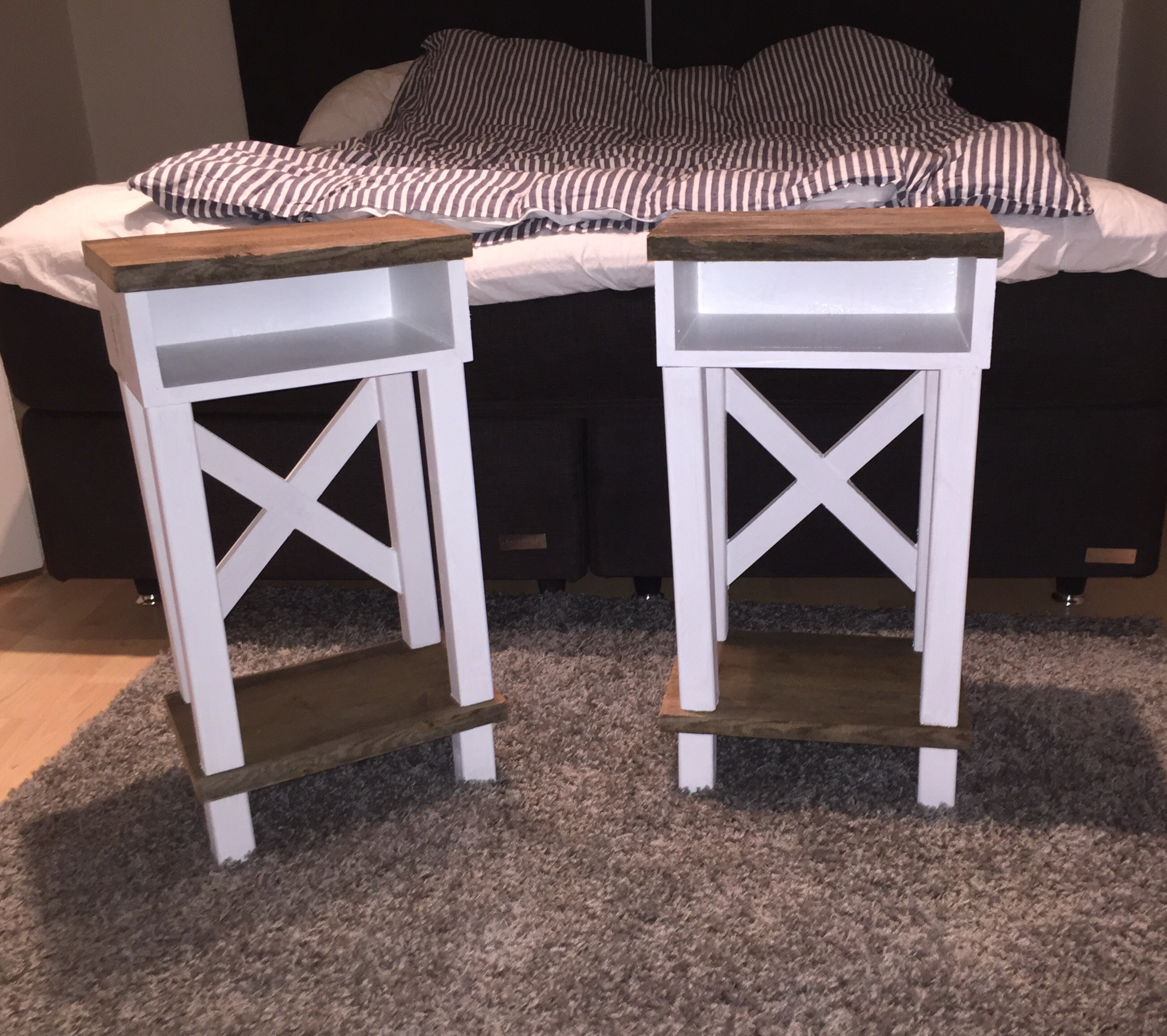 Picture of Bedside Table With Trestle