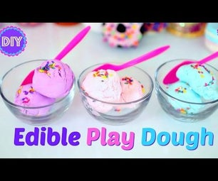 EDIBLE PLAY DOUGH! 2 INGREDIENTS!