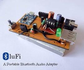 BluFi - a Portable Bluetooth Audio Adapter