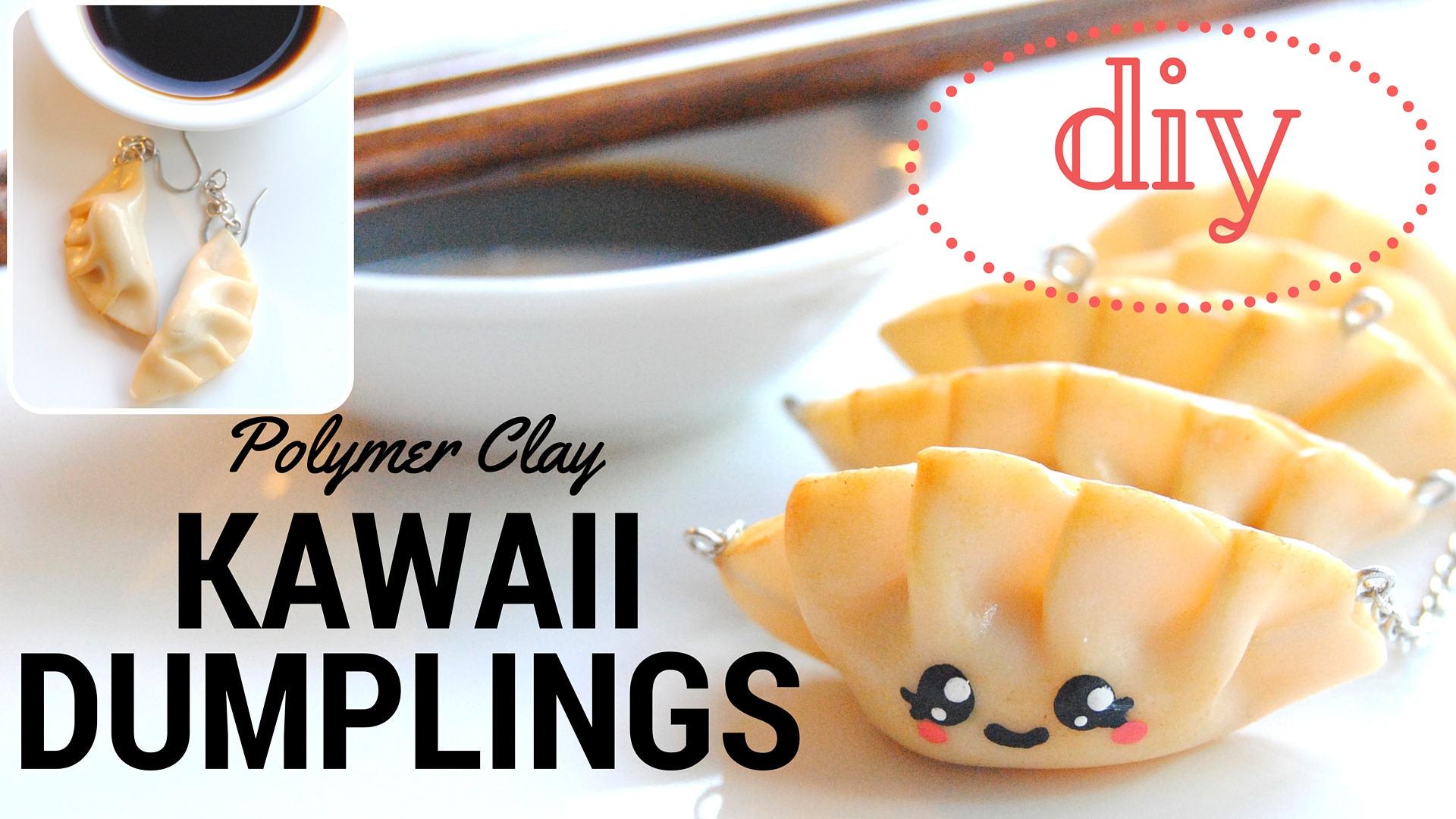 Picture of DIY KAWAII Japanese Dumplings/Gyoza Polymer Clay, I MISS JAPAN SERIES