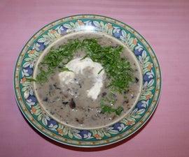 Sherry and Mushroom soup