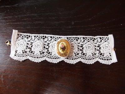 Sew the Locket Onto the Bracelet