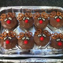 Decorated dessert -  Rudolph the reindeer Muffins