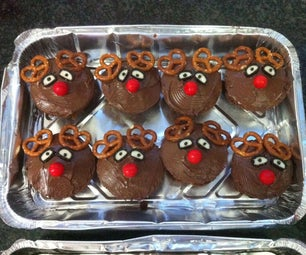 Decorated Dessert -  Rudolph the Reindeer Muffins