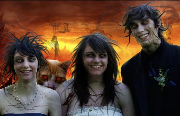 Zombie Family Portrait (with Demon Pet)
