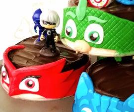 PJ Masks Fondant Cake Remix