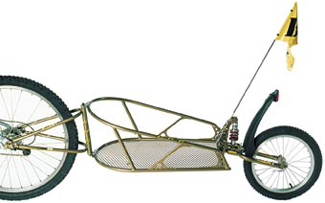 Picture of Single Wheel Bicycle Trailer With Suspension.