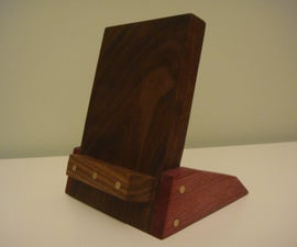 Brass Dowel Tablet Stand (3 Materials)