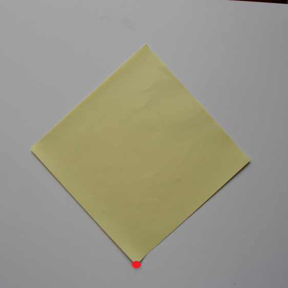 Picture of Take a Square Piece of Paper (21 Cm X 21 Cm).