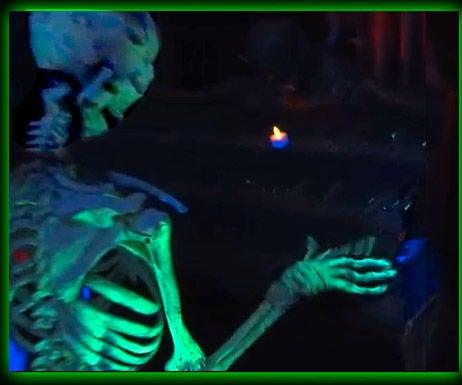 Skeletal Organist Animated Halloween Prop