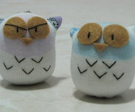 Owl sock doll