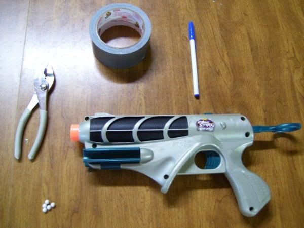 How to Make a Homeade Airsoft Gun From a Nerf Gun