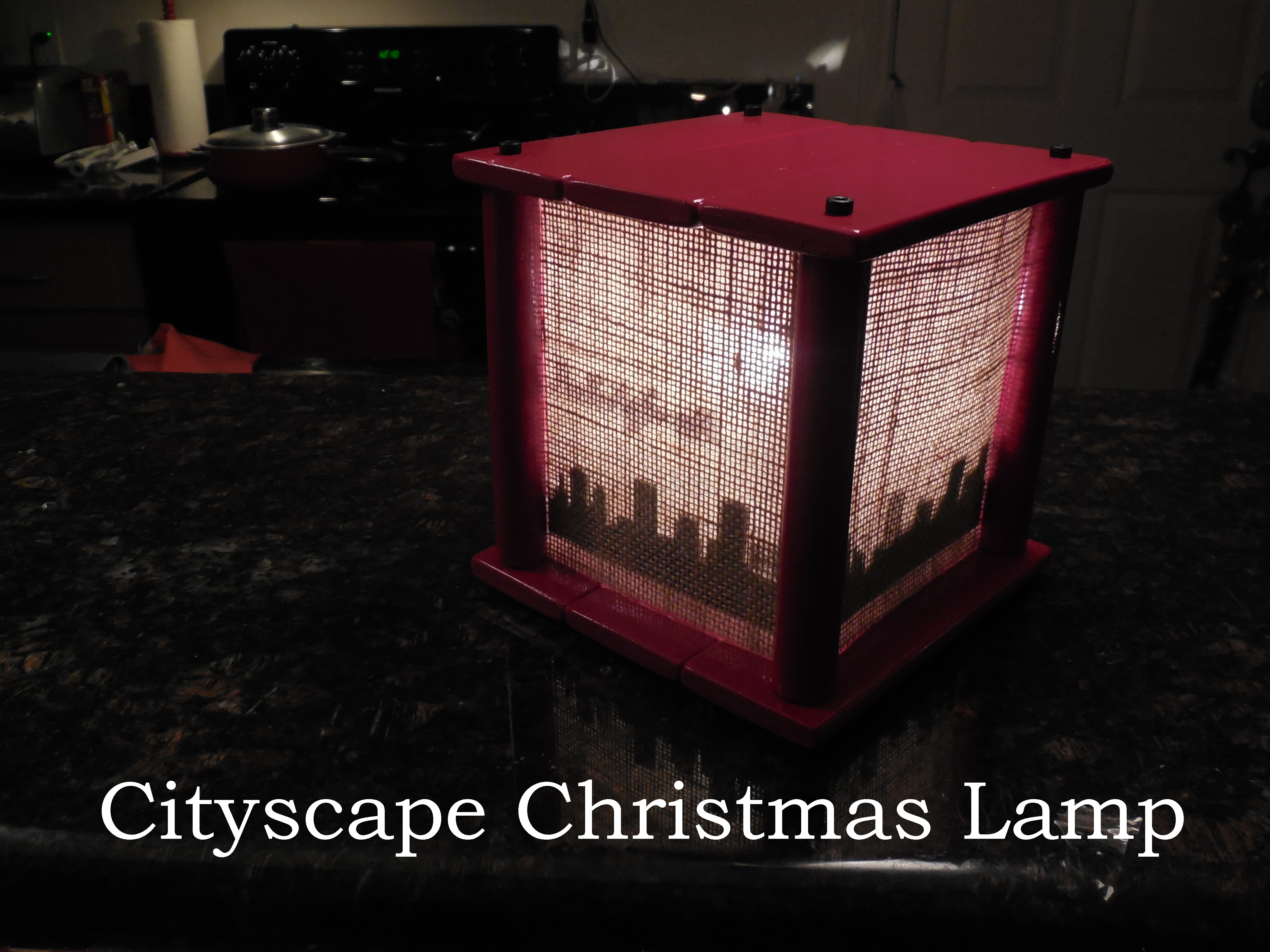 Picture of Cityscape Christmas Lamp