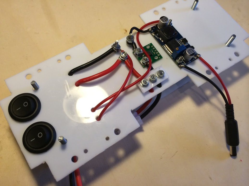Picture of Mounting Current Sensor and Step-up
