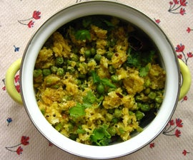 Green Peas With Raw Mango and Grated Coconut