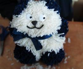 Teddy Bear Toy Made With Yarn