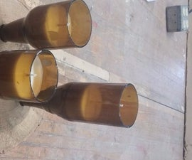 Beer Bottle Candle Centerpieces