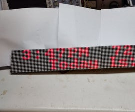 16x128 Display Showing Date, Time, Temp, Humidity