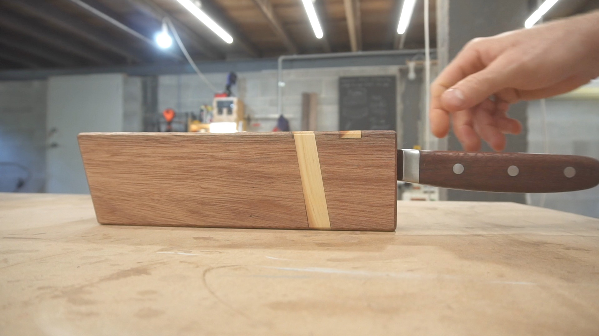 Picture of Magnetic Wood Sheath for a Kitchen Knife