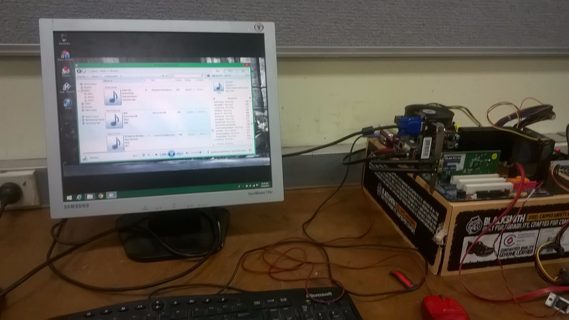 Picture of Testing of Parts and Software