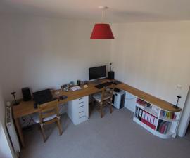 How I Built My Dream Corner Desk - Solid Beech Twin Desk