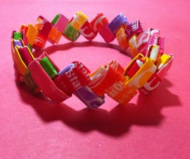 How to Make a Bracelet Out of Candy Wrappers!