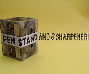 Pen/ Pencil Stand With Pencil Sharpener