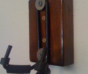Wood and Metal Guitar Hanger