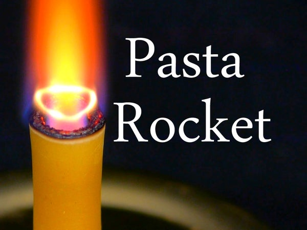 Make a Hybrid Rocket Engine With Pasta, Hydrogen Peroxide, and Yeast