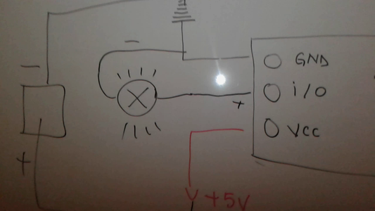 Connect the Touch Switch Diagram