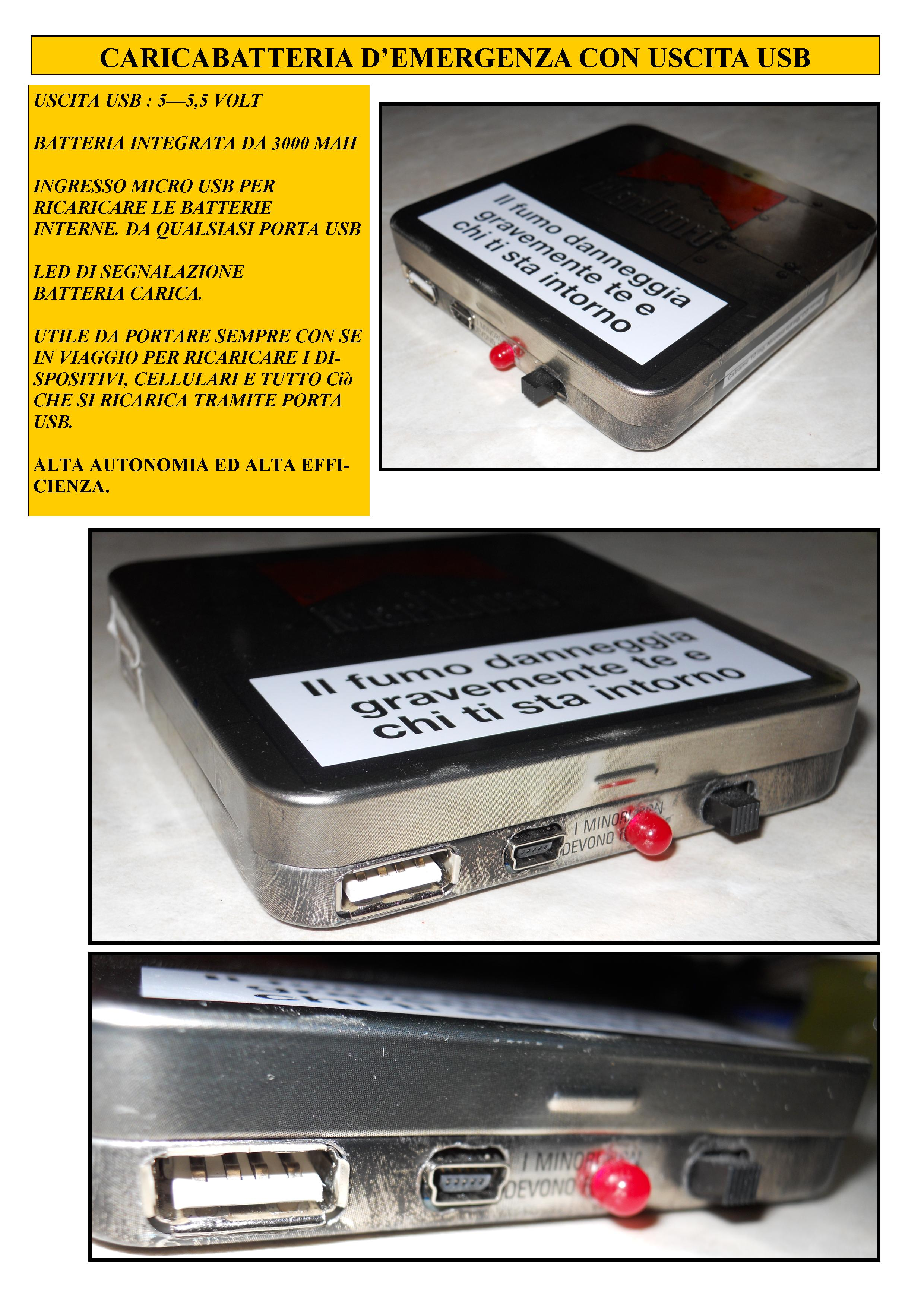 Picture of Caricabatteria Di Emergenza USB 5 V Power Bank