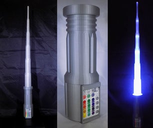 LIGHTSABER!!! LED - 3D Printed - Fully Functional