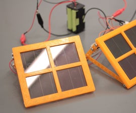 3D Printed 2x2 Solar Cell Panel