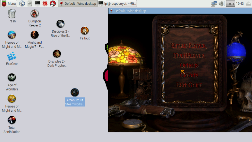Picture of Play Arcanum on You Raspberry Pi Device