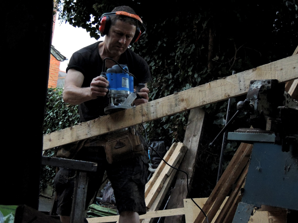 Picture of Making Cladding From Pallets