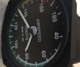 Airplane Instrument Clock