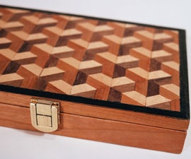 Tessellated Veneered Watercolor Box