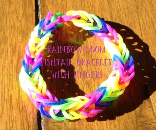 Rainbow Loom Fishtail on Your Fingers
