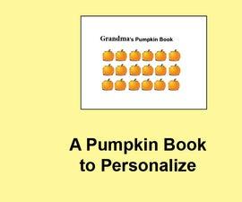 Pumpkin Book to Personalize