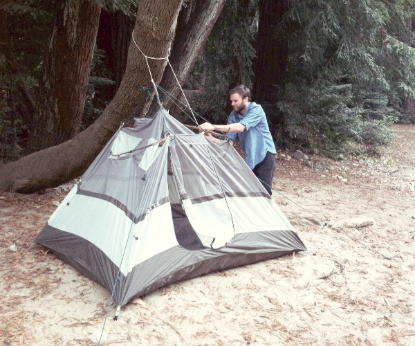 Picture of Pitch a Tent Without Poles
