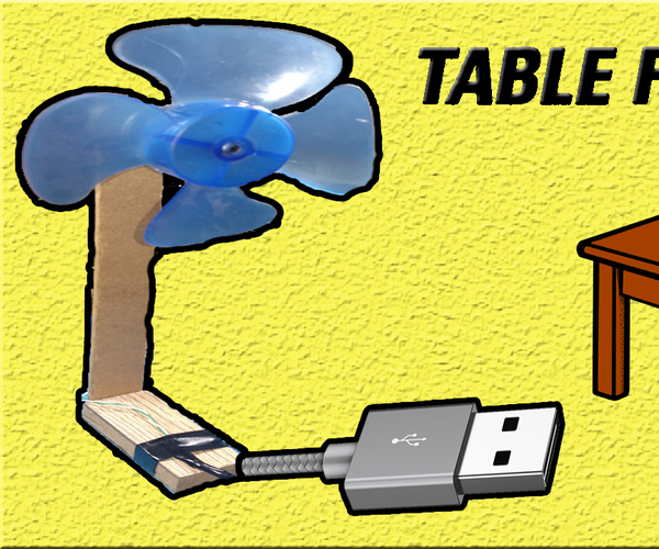 How to Make Table Fan | USB Powered | Best for Laptop | Very Easy | DIY Homemade